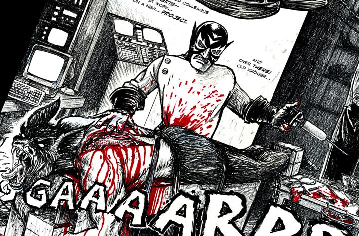 Muerte in Dr. Olt's lab... makin a MESS